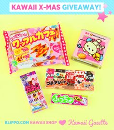 ✰ ENTER THE X-MAS GIVEAWAY ✰ by Blippo & Kawaii Gazette! Winner will get these sweet candies! http://www.kawaiigazette.com/en/giveaway-kawaii-christmas-with-blippo-com/