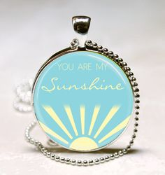 You Are My Sunshine Quote Jewelry Sunshine by vintagewithflair, $8.95