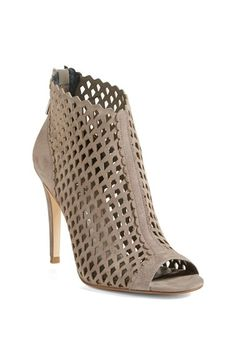 love these open tote cage booties
