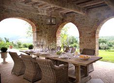 Villa Tenuta Cantata's Beautiful Outdoor Dining Space