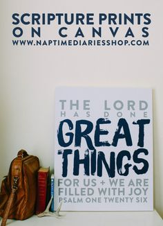 scripture prints on canvas!