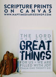 scripture prints on canvas!