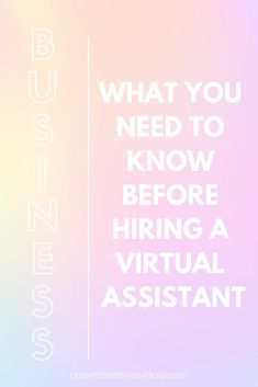 So, you're thinking of hiring a virtual assistant. It can be overwhelming to figure out how to work with someone virtually. Content Marketing, Affiliate Marketing, How To Become, How To Make Money, Office Branding, Virtual Assistant Services, Business Profile, Career Development, Girl Boss