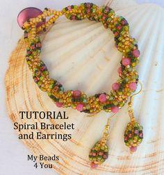 PDF Beading Tutorial PDF Beaded Bracelet Pattern by mybeads4you  Buy 3 get 1 FREE!