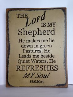 He refreshes my soul! Thank you, God!