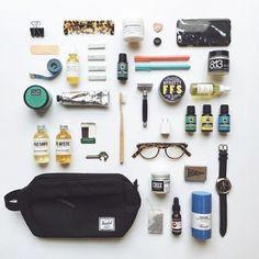 for your weekend getaway. Beard Grooming Kits, Men's Grooming, Herschel Supply Co, Weekender, Urban Outfitters Men, Beard Wax, What In My Bag, Beauty Kit, Dopp Kit