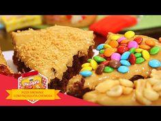 Pizza Brownie de Paçoquita - YouTube