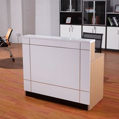 Factory wholesale price wood reception table modern office front counter design