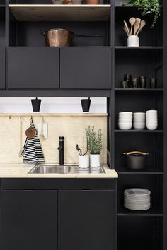 Contrasting Minimalism - Our Favorite Dark Living Spaces - Photos