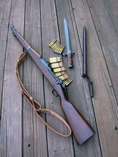 use of one should be taught in school.  The attachment should be a course of study in the military. Springfield Rifle, M1 Garand, Military Guns, Weapons Guns, Guns And Ammo, Snipers, Bolt Action Rifle, Firearms, Shotguns