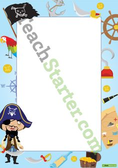 Pirate Page Border - Pirate Pictures | Teaching Resources - Teach Starter