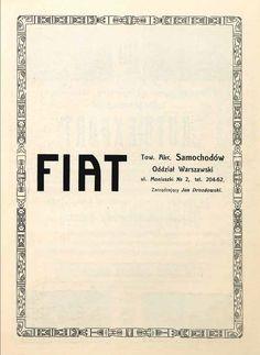 Polish Fiat ad, 1914