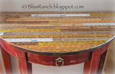 Bliss Ranch: Yardstick Table