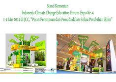 """Stand Kementan - Indonesia Climate Change 2014 Pameran Indonesia Climate Change Education Forum-Expo Ke-4, 1-4 Mei 2014 di JCC dengan tema """"Peran Perempuan dan Pemuda dalam Solusi Perubahan Iklim."""" Dibuka Karliansyah. (MAP CONVEX)"""