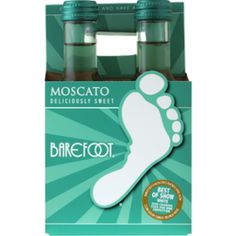 Barefoot Moscato  NV / 187 ml. 4 pack $6.99. Split them and tag each for a shower favor!