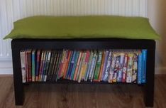 I Hacked The IKEA LACK TV Unit Into A Bookshelf Bench Filled Shelf With