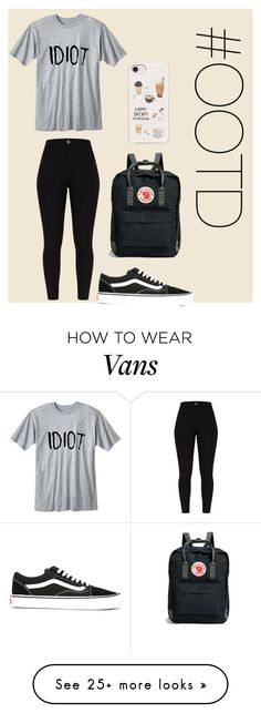 """#OOTD92"" by lilythefangirl on Polyvore featuring Vans, Fjällräven, Casetify, StreetStyle, Dark, ootd and polyvorefashion"