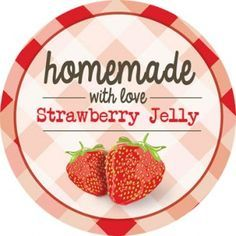 Plaid Strawberry Jam Label - Round - iCustomLabel I am ordering these for my jelly that I make for My Friends. Strawberry Jelly, Strawberry Patch, Strawberry Fields, Chutney, Jam Favors, Country Jam, Jam Label, Jam And Jelly, Jam Jar