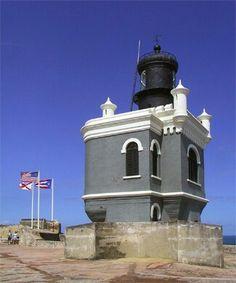 San Juan,Puerto Rico. El Morro Castle Ligthhouse.