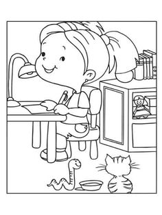 Coloring page. Information Age, Good Posture, Coloring Pages For Kids, How To Find Out, Coloring Pages, Children, Kids Coloring Pages, Coloring For Kids