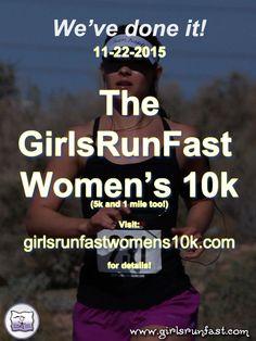 """Here we go peeps!! Come on down to #Phoenix for the #GirlsRunFastWomens10k!! A 5k, 10k, and 1 mile in sunny Phoenix, AZ. Stroller and pet friendly!  The """"Bling-iest"""" run EVER! https://girlsrunfastwomens10k.com/"""