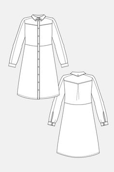 Shirt dress and blouse named patterns