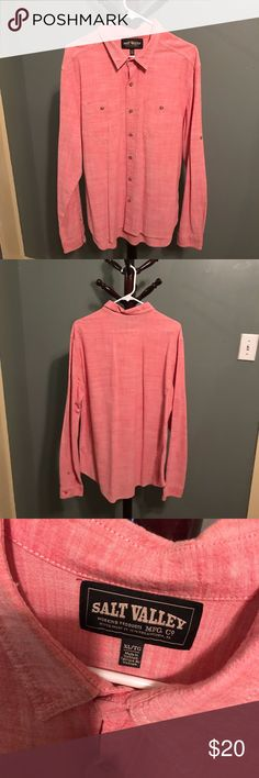 Men's Salt Valley Salmon Chambray Western Shirt Only worn twice. Great condition Urban Outfitters Shirts Casual Button Down Shirts