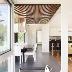 Like these floors but might be too cold ...   Wood Ceiling Tile Floor Design, Pictures, Remodel, Decor and Ideas - page 2