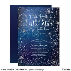 Design your Twinkle Twinkle Little Star baby shower invitations with Zazzle! Browse from our wide selection of fully customizable shower invitations or create your own today! Baby Shower Invitation Cards, Baby Shower Invites For Girl, Baby Shower Themes, Baby Boy Shower, Shower Ideas, Invitation Ideas, Baby Elefant, Baby Shower Invitaciones, Star Baby Showers