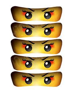 Meisje Ninja/Samurai ogen: 5 maten-INSTANT door OrchidAvenueDesigns