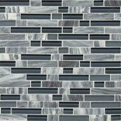 "View the Daltile SA59-58RANDMS1P Stone Radiance Glacier Gray Marble Random Tumbled Stone & Glass Mesh-Mounted Multi-Surface Mosaic Tile Sheet Size (12.5"" x 11.75"") at Build.com."