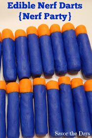 Savor The Days: How to Make Edible Nerf Darts {Nerf Party}