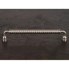 This large oversized satin nickel finish cabinet pull with twisted handle design from RK International is perfect for more demanding use on larger cabinet doors, pot & pan drawers, armoires, closets and small appliances capable of accepting a mounted pull.