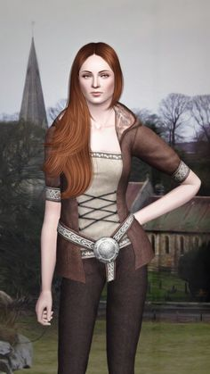 Sansa Stark Game of Thrones by Kurasoberina for Sims 3 Sims 3 Sims Download, Free Sims, My Sims, Sims Cc, Sims 3 Games, Sims 4 Traits, Sims Medieval, Rey Star Wars, Sims Mods