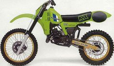 1982 Kawasaki KX125. I loved how these Kwaka's had the gold accents on them. Very sexy for their time..
