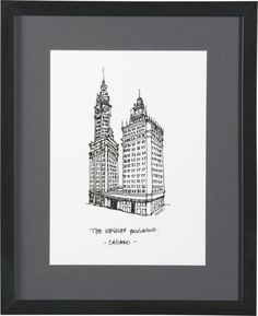 Cityscape Chicago Print in Art   Crate and Barrel....love Chicago art