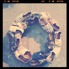 toms shoe wreath