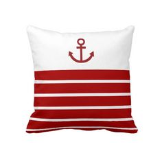 red nautical pillows - Google Search