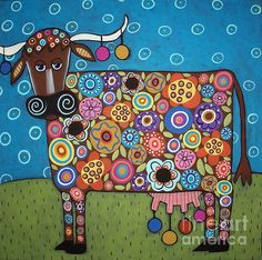 """""""Blooming Cow"""" by Karla Gerard is so much fun!  I really enjoy her work."""