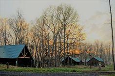 Cabins at Shenandoah River State Park in Virginia