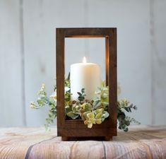 Lantern Centerpieces, Candle Lanterns, Wedding Centerpieces, Flower Centerpieces, Rustic Lanterns, Wedding Lanterns, White Candles, Pillar Candles, Diy Wedding Decorations
