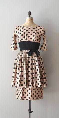 Suzy Perette silk dress / 1950s polka dot dress / by DearGolden