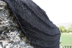 Black Lace Giant Triangle Wrap shawl by MollysPurl on Etsy