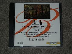 BACH: St. Matthew Passion (Excerpts) (CD, Music, Classical, Orchestra,Chorus)  #Passion