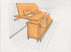 MULTIBENK: Med enkle grep og smarte inndelinger har hytteeieren laget en sofabenk til flere formål.