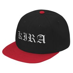 Description Show your pride for becoming Death Note fans Details - Otto Cap 125-978 - Wool Blend Snapback - 15% Wool 85% Acrylic - Structured - Firm Front Panel - 6-panel Cap - Seamed Front Panel with