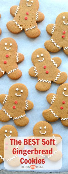 This Classic Gingerbread Cookie Recipe is Perfect for Holiday Baking! These soft gingerbread cookies are sweet, soft, lightly spiced, and the perfect cut-out cookie recipe. Ginger Molasses Cookies, Ginger Bread Cookies Recipe, Almond Cookies, Chocolate Cookies, Cut Out Cookie Recipe, Cut Out Cookies, Good Cookie Recipes, Dutch Cookies, Cookies Soft