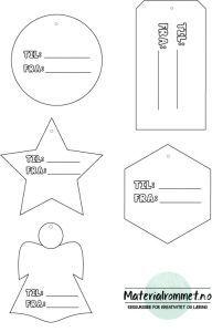LAST NED GRATIS - Til og fra- lapper fra Materialrommet Holidays And Events, Printer, Diagram, Chart, Templates, Christmas, Paper Board, Creative, Xmas