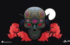 Dia de Los Muertos skull vector illustration