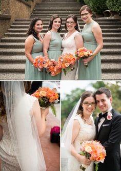 DC Real Wedding - Bergerons Flowers - Bergerons Event Florist Blog - Alyssa and Matt's Fall Union #dustymiller #bruniaberries #dahlias